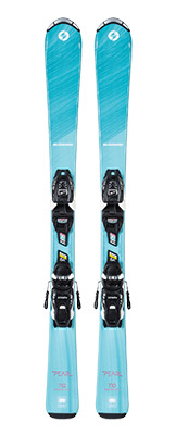 2022 Blizzard Pearl Junior Skis & Bindings available at Swiss Sports Haus 604-922-9107.