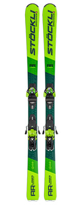 2022 Stockli Laser AR Skis & Bindings available at Swiss Sports Haus 604-922-9107.