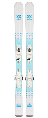 2022 Volkl Flair Junior Skis & Bindings available at Swiss Sports Haus 604-922-9107.