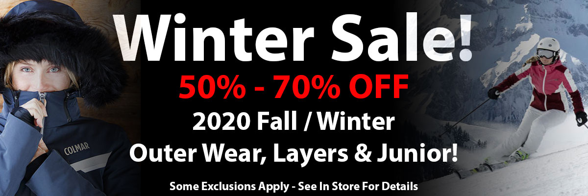 Winter Sale 2021 20% - 70% Off outer wear, layers & junior!