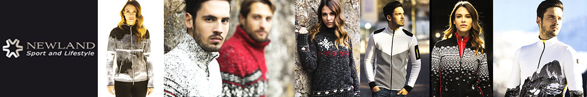 Newland ski wear & sweaters sold as Swiss Sports Haus 604-922-9107.
