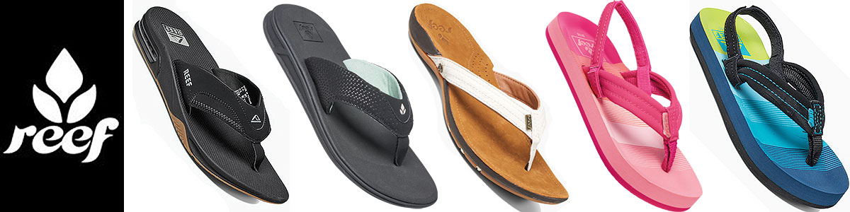 Reef mens, womens & kids, junior sandals available at Swiss Sports Haus 604-922-9107.