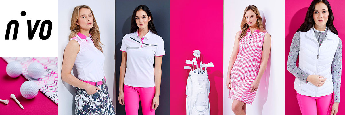Nivo womens golf wear available at Swiss Sports Haus 604-922-9107.