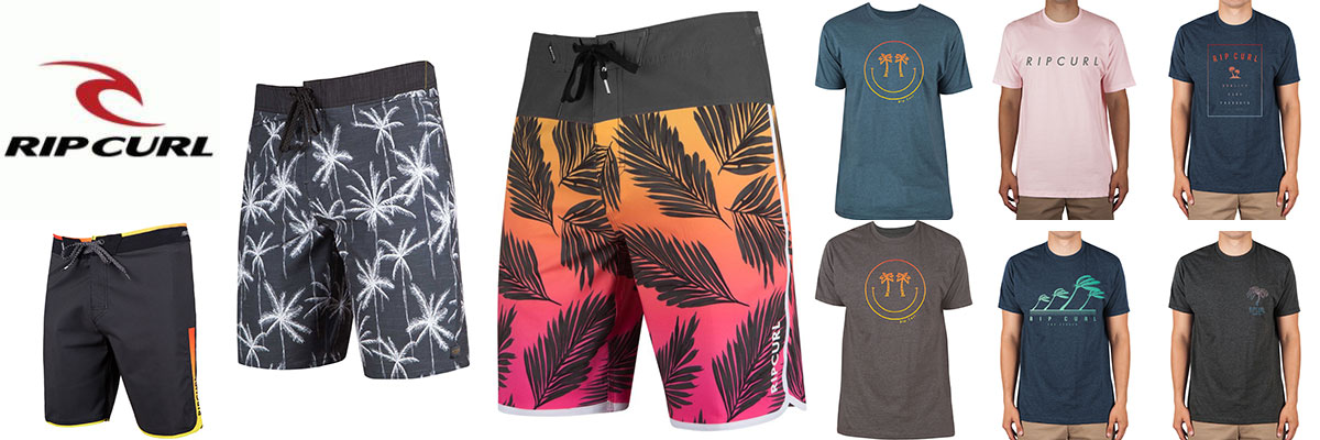 Rip Curl mens board shorts, swimwear & t-shirts available at Swiss Sports Haus 604-922-9107.