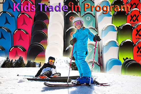 Kids Ski Gear Trade In Program at Swiss Sports Haus - Call 604-922-9107 for details or visit our web page. Trade back your kids old gear for new today!