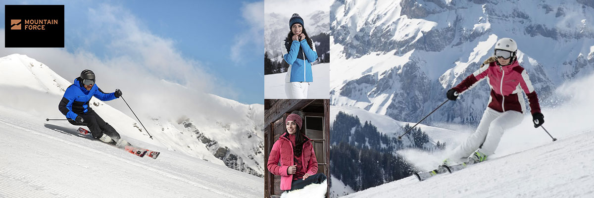 Mountain Force ski wear on sale. Call Swiss Sports Haus 604-922-9107 for details and availablility.
