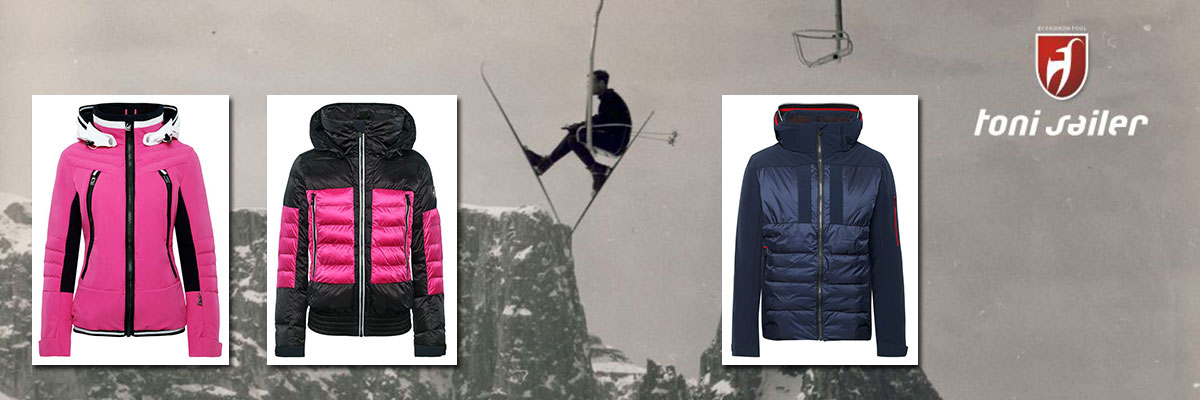 Toni Sailer ski wear on sale. Call Swiss Sports Haus 604-922-9107 for details and availablility.