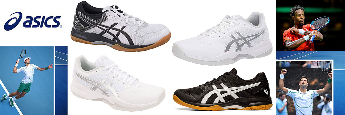 Asics tennis shoes for men and women available at Swiss Sports Haus 604-922-9107.