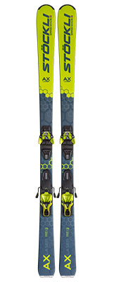 2021 Stockli Laser AX skis & bindings available at Swiss Sports Haus 604-922-9107.