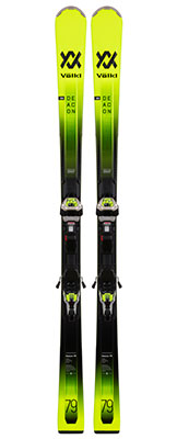 2021 Volkl Deacon 79 skis & bindings available at Swiss Sports Haus 604-922-9107.