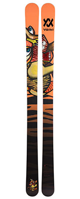 2021 Volkl Revolt 95 skis available at Swiss Sports Haus 604-922-9107.