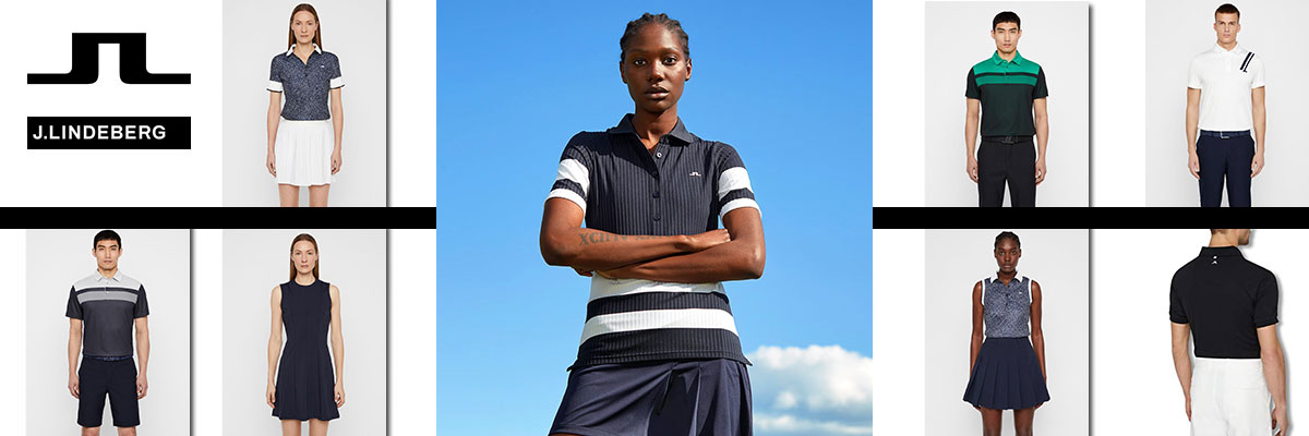 J. Lindeberg golf wear for men & women available at Swiss Sports Haus 604-922-9107.