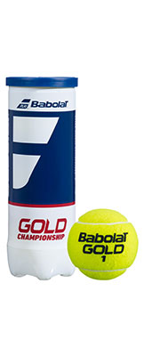 Babolat Gold Championship tennis balls available at Swiss Sports Haus 604-922-9107.