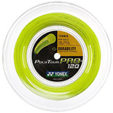 Yonex PolyTour Pro 120/17 Flash Yellow tennis string available with stringing service at Swiss Sports Haus 604-922-9107.