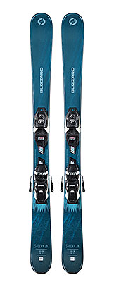2021 Blizzard Sheeva Twin Junior skis & bindings available at Swiss Sports Haus 604-922-9107.