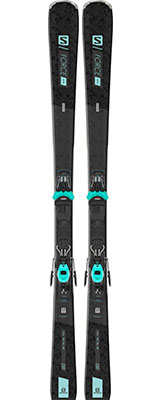 2021 Salomon S/Force W 7 womens skis & bindings available at Swiss Sports Haus 604-922-9107.