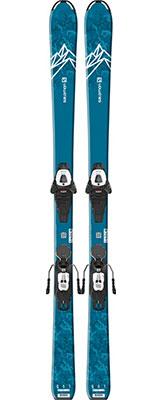 2021 Salomon QST Max Junior M skis & bindings available at Swiss Sports Haus 604-922-9107.