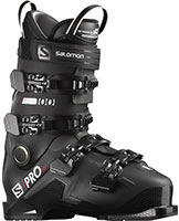 2021 Salomon S/Pro 100 flex HV high volume ski boots available with free custom boot fitting & fit guarantee at Swiss Sports Haus 604-922-9107.