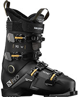 2021 Salomon S/Pro 90 flex W womens ski boots available with free custom boot fitting & fit guarantee at Swiss Spors Haus 604-922-9107.