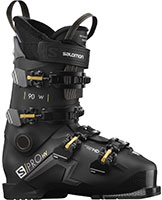 2021 Salomon S/Pro 90 flex W womens HV High Volume ski boots with free custom boot fitting & fit guarantee available at Swiss Spors Haus 604-922-9107.
