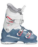 2021 Nordica Speedmachine Junior J3 three buckle junior girls ski boots available at Swiss Sports Haus 604-922-9107.