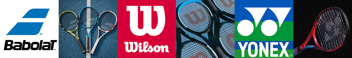 Babolat, Wilson & Yonex tennis rackets, balls string and accessories available at Swiss Sports Haus 604-922-9107.