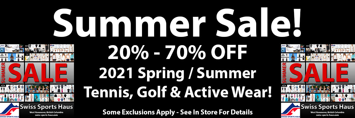 Summer Sale 2021 spring / summer tennis, golf and active wear on sale 20% to 70% off!